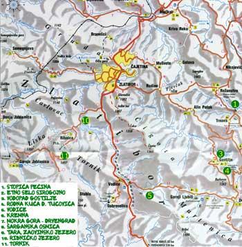 mapa zlatibora Zlatibor   Mapa mapa zlatibora